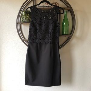 H&M Black lace overlay dress